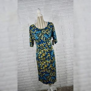 LuLaRoe Paisley & Geometric Julia Dress